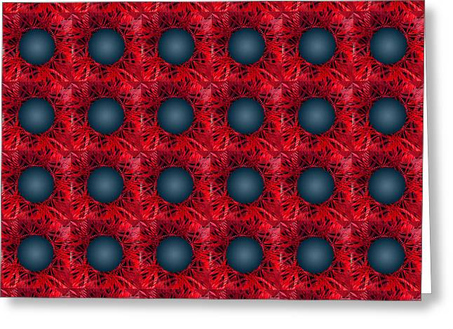 Black Spheres Pattern Greeting Card