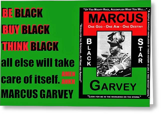 Black Star Garvey Greeting Card