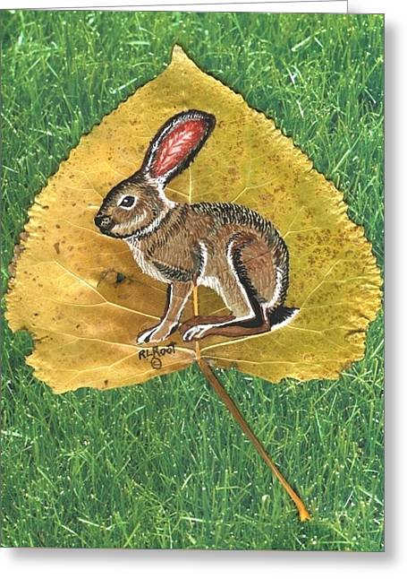 Black Tail Jack Rabbit  Greeting Card