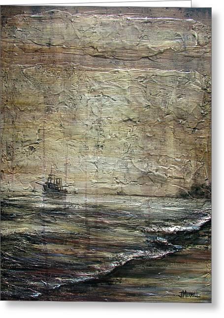 Black Tide Greeting Card by Judy Merrell