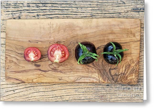 Black Tomatoes Indigo Rose Greeting Card