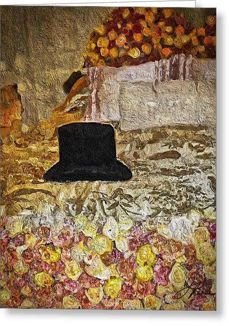 Black Top Hat Greeting Card