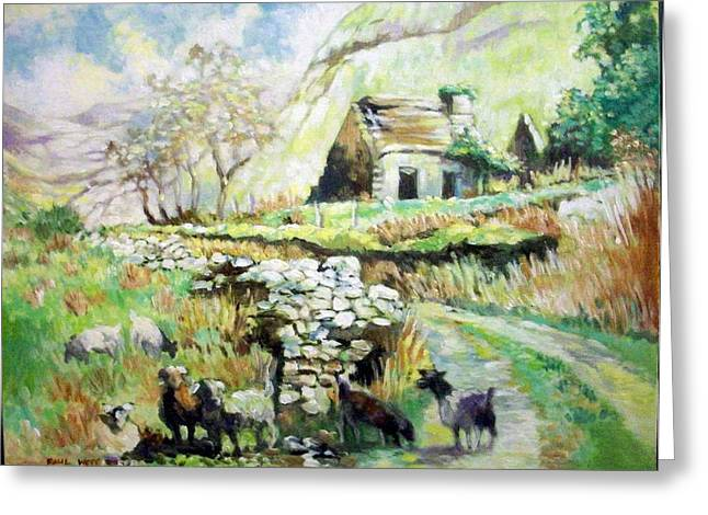 Greeting Card featuring the painting Black Valley- Co Kerry-ireland by Paul Weerasekera