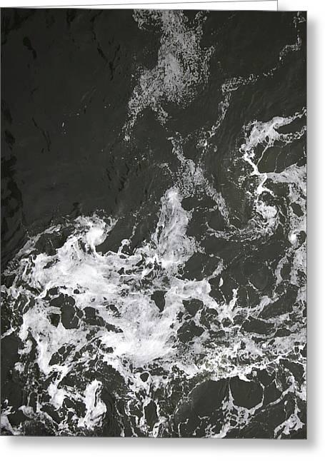 Black Water Marble  Greeting Card