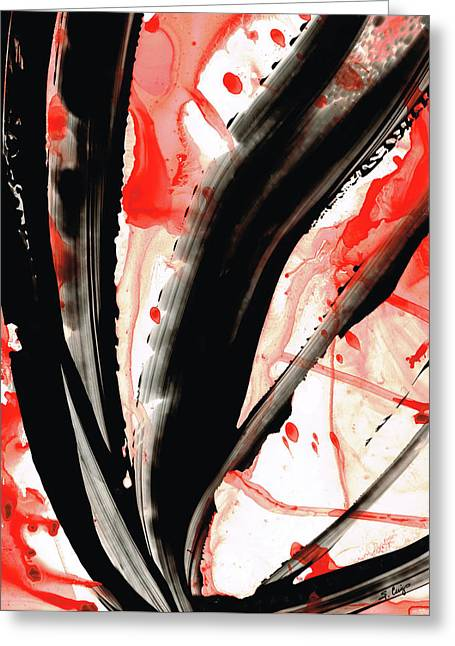 Black White Red Art - Tango 2 - Sharon Cummings Greeting Card by Sharon Cummings