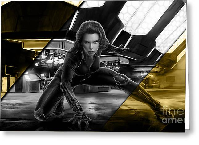 Black Widow Collection Greeting Card by Marvin Blaine