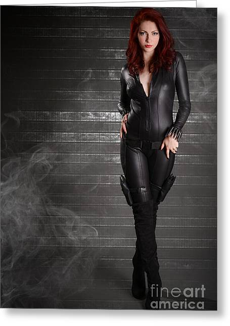 Black Widow Greeting Card by Jt PhotoDesign
