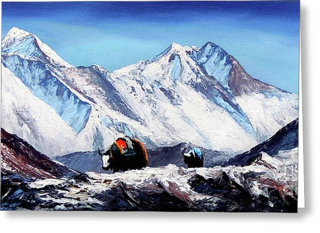Black Yak On Everest Base Camp Greeting Card