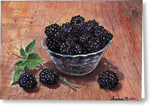 Blackberries Greeting Card