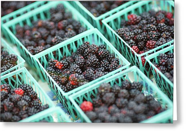 Blackberry Baskets Greeting Card