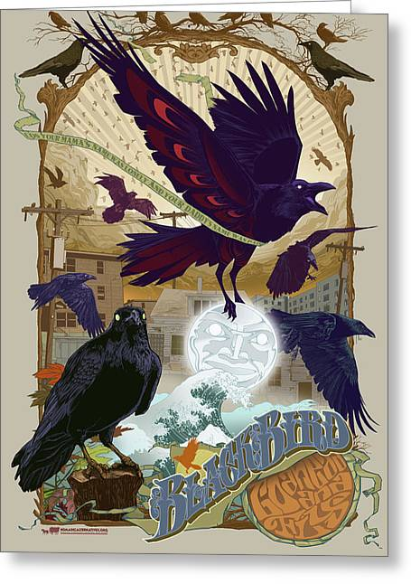 Blackbird 1 Greeting Card by Nelson Garcia