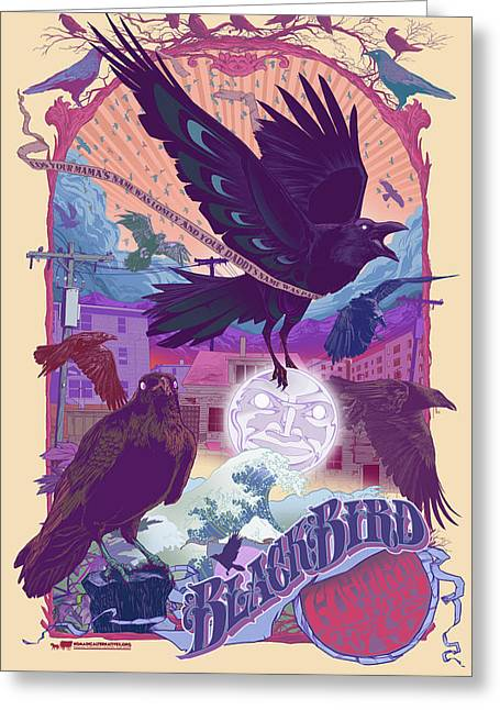 Blackbird 2 Greeting Card by Nelson Garcia