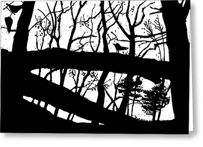 Blackbird In The Woods Greeting Card by Martin Stankewitz