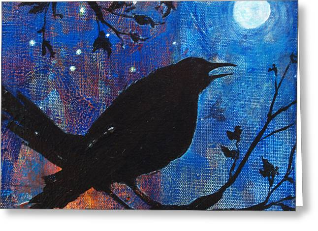 Blackbird Singing Greeting Card