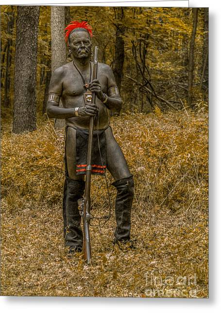 Blackened For War Greeting Card by Randy Steele