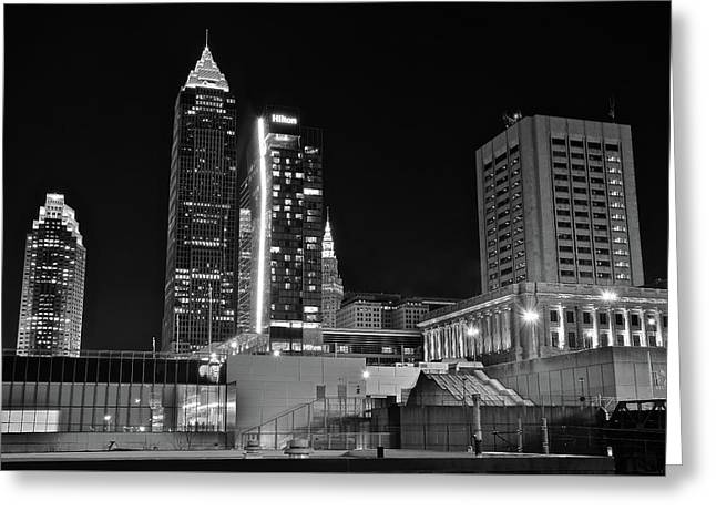 Greeting Card featuring the photograph Blackest Night In Cle by Frozen in Time Fine Art Photography