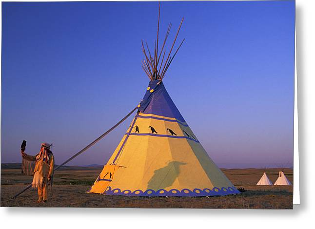 Blackfeet Tipi Greeting Card