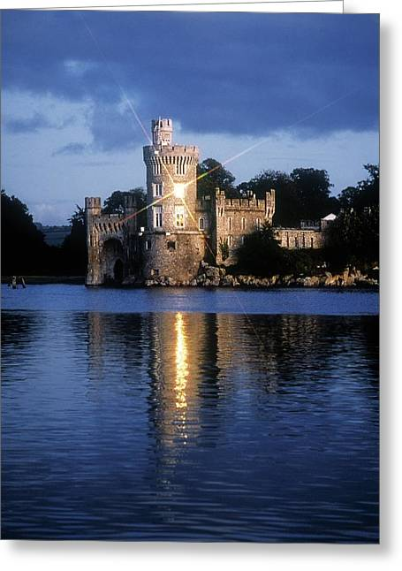 Reflections Of Sun In Water Greeting Cards - Blackrock Castle, River Lee, Near Cork Greeting Card by The Irish Image Collection