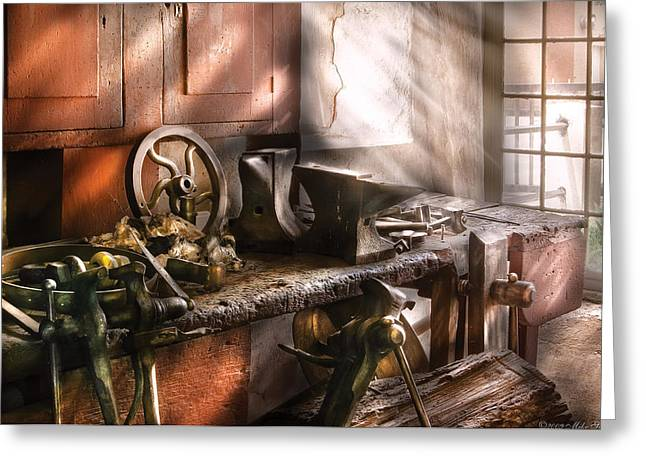 Blacksmith - In My Grandfather's Workshop - Current Greeting Card
