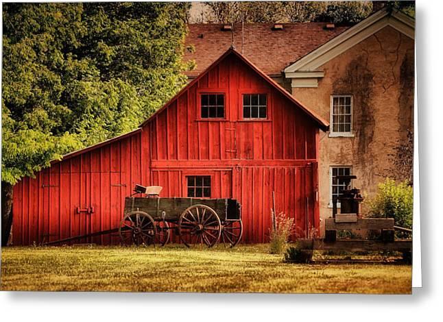 Bishop Hill Greeting Cards - Blacksmith Barn Greeting Card by Zeus  Montalvo
