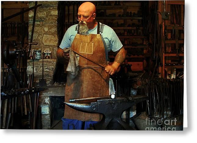 Blacksmith Greeting Card by Kim Michaels