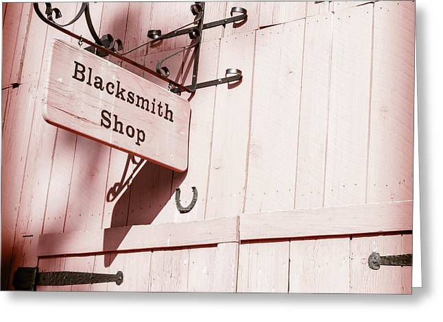 Greeting Card featuring the photograph Blacksmith Shop by Alexey Stiop
