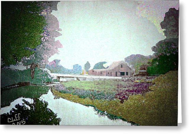 Blacksmith Shop On Sudbury River Greeting Card by Cliff Wilson