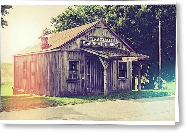 Blacksmith Shop Brazeau Greeting Card