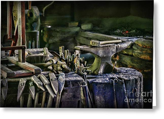 Blacksmith - This Is My Anvil Greeting Card by Paul Ward