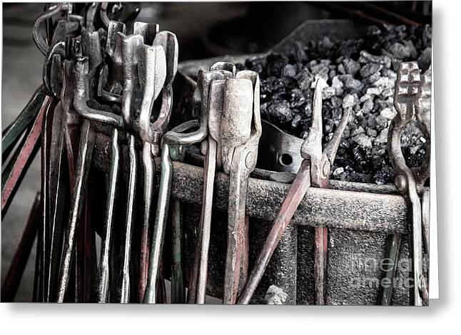 Blacksmith's Tools Greeting Card by Bob Zuber