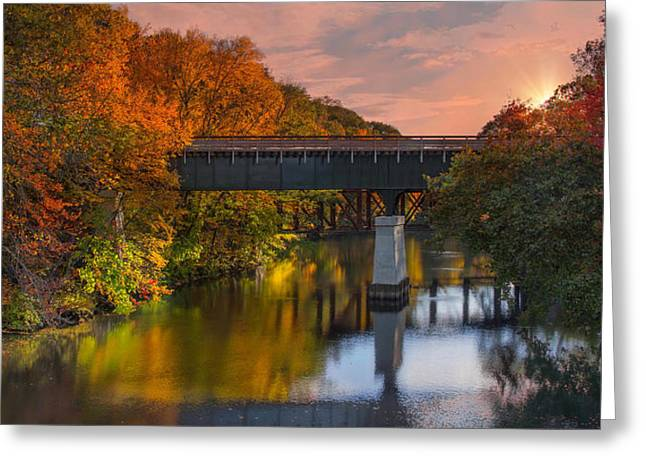Blackstone River Bridge Greeting Card