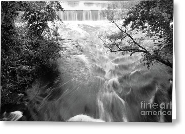 Blackstone River Dam At Manville Greeting Card