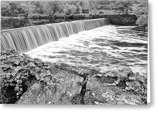 Blackstone River Dam Manville Rhode Island Greeting Card