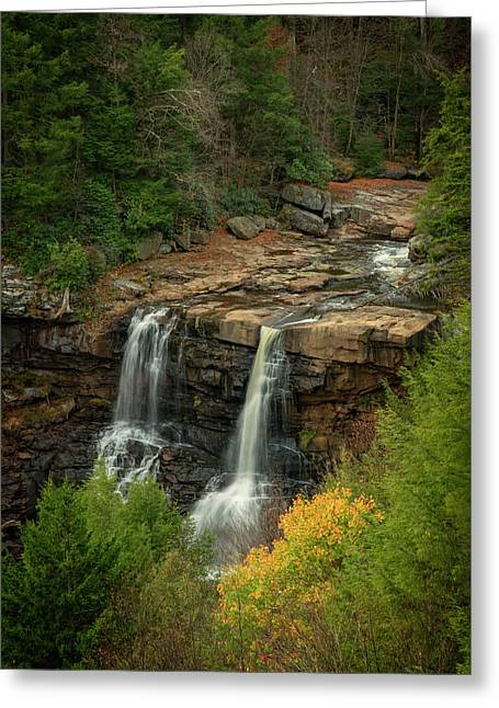 Greeting Card featuring the photograph Blackwater Falls by David Waldrop