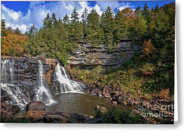 Blackwater Falls  In Autumn 3879c Greeting Card