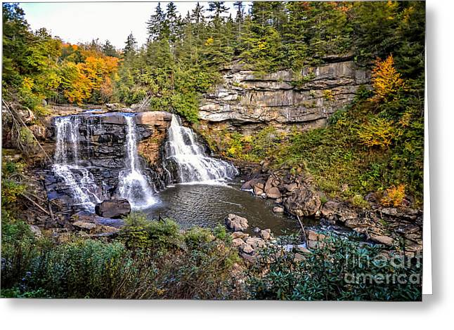 Blackwater Falls In Autumn3836c Greeting Card