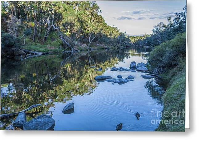 Blackwood River Rocks, Bridgetown, Western Australia Greeting Card