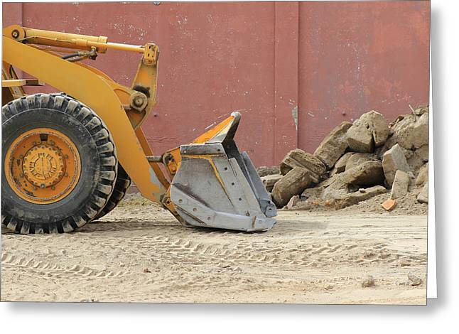 Blade Of A Heavy Loader Greeting Card by Robert Hamm