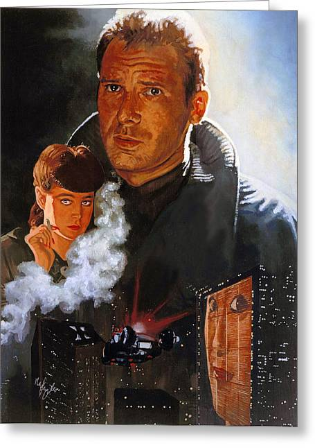 Blade Runner Greeting Card by Neil Feigeles
