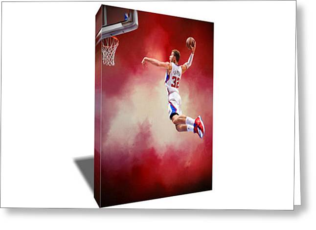 Blake Griffin Canvas Art Greeting Card