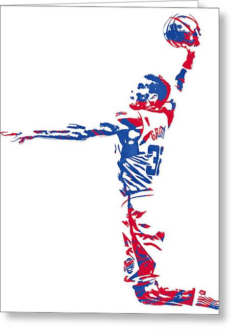 Blake Griffin Los Angeles Clippers Pixel Art 5 Greeting Card by Joe Hamilton