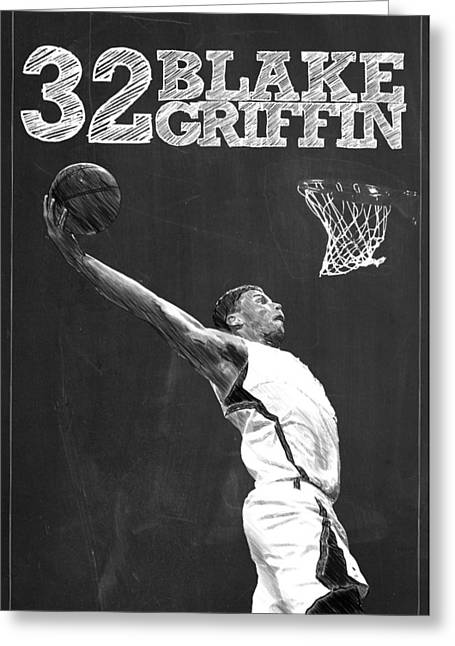 Blake Griffin Greeting Card by Semih Yurdabak