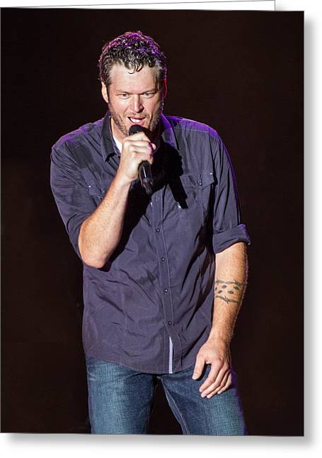 Blake Shelton 2 Greeting Card by Mike Burgquist