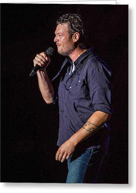 Blake Shelton 4 Greeting Card by Mike Burgquist