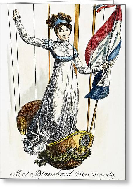 Blanchard: Italy, 1812 Greeting Card by Granger