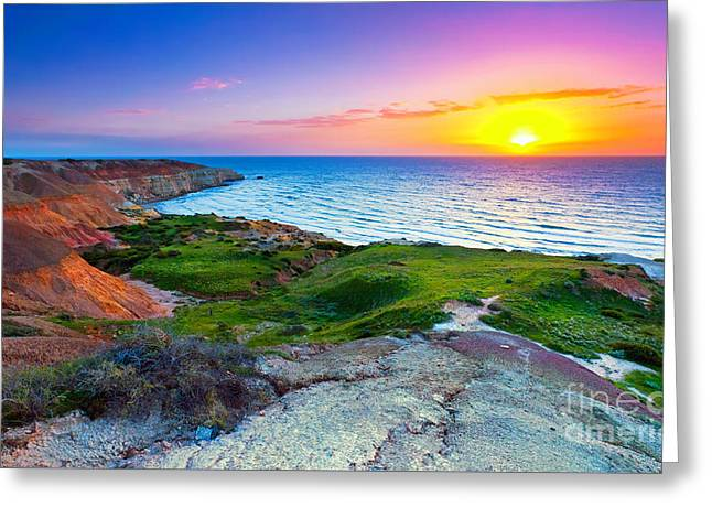 Blanche Point Sunset Greeting Card