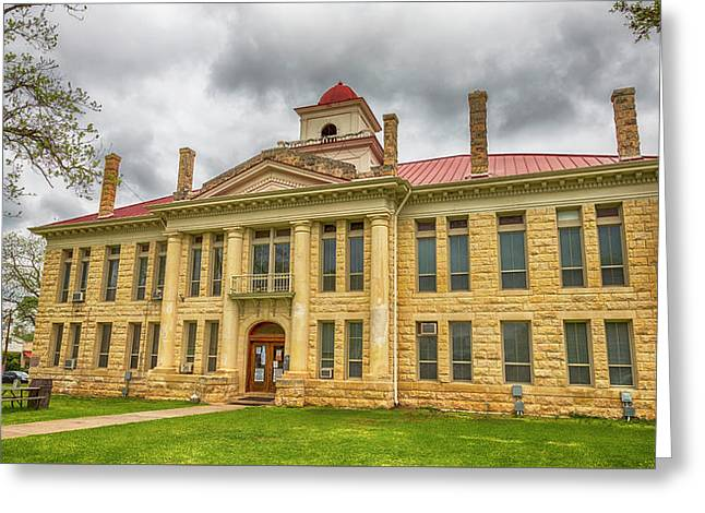 Blanco County Tx Courthouse  Greeting Card by Stephen Stookey
