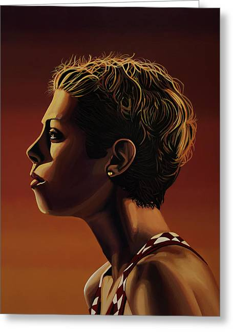 Blanka Vlasic Painting Greeting Card by Paul Meijering