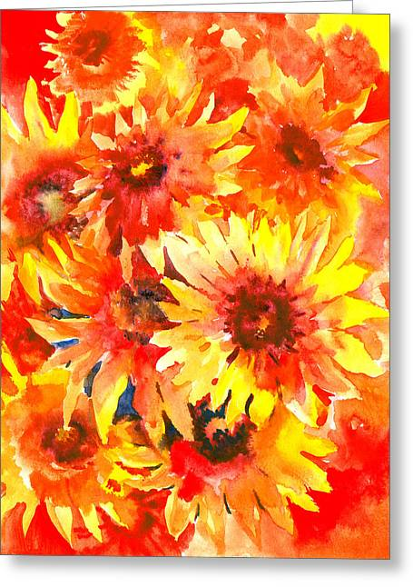 Blanket Flowers Greeting Card by Suren Nersisyan