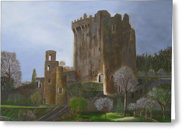 Blarney Castle Greeting Card by LaVonne Hand